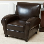 Home Loft Concepts Jermicha Club Chair; Chocolate Brown