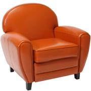 Home Loft Concept Lorenz Faux Leather Club Chair; Burnt Orange