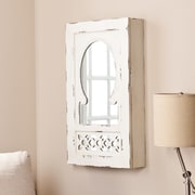 Wildon Home   Davida Shabby Elegance Wall Mounted Jewelry Armoire with Mirror