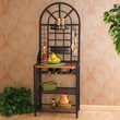 Wildon Home   Wallace Bakers Rack in Black