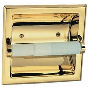 Design House Millbridge Recessed Toilet Paper Holder; Polished Brass