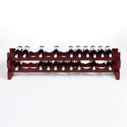 Wine Enthusiast Companies 26 Bottle Tabletop Wine Rack; Mahogany