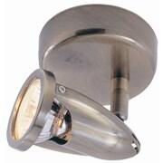 TransGlobe Lighting Modern Track Lights 1-Light Semi Flush Mount; Rubbed Oil Bronze