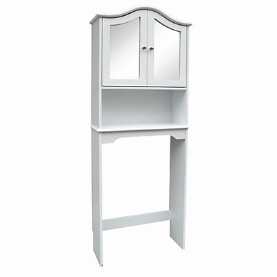 Hazelwood Home 24'' x 68'' Mirrored Over the Toilet Cabinet