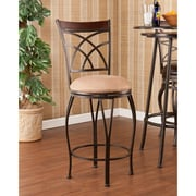 Wildon Home   Larsen 25'' Swivel Bar Stool with Cushion