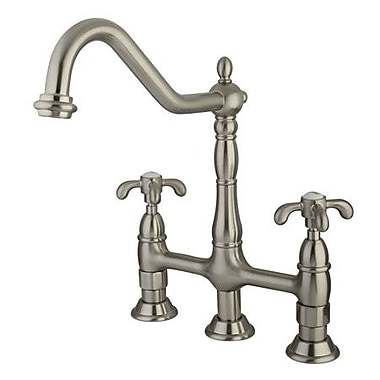 kingston brass french country double handle widespread