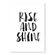 Americanflat Rise and Shine Black & White Textual Art Poster