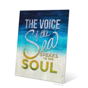 Click Wall Art The Voice Of The Sea Speaks To The Soul Textual Art Plaque; 10'' H x 8'' W x 0.04'' D