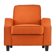 Wildon Home   Lakewood Upholstered Arm Chair; Orange