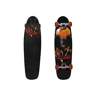 Tony Hawk Double Kick Hawk Moon Cruiser Skateboard; Black