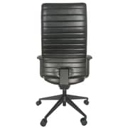 Eurotech Frasso Leather Conference Office Chair, Adjustable Arms, Black (LE800-BLKL-AA1)