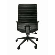 Eurotech Frasso Leather Conference Office Chair, Adjustable Arms, Black (LEM801-BLKL-AA1)