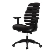 Eurotech FLX500-BLKOP Fx2 Open Back Fabric Task Chair, Adjustable Arm, Black