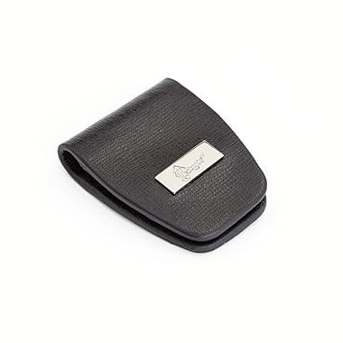 Royce Leather – Petite pince à billets magnétique en cuir Saffiano, noir