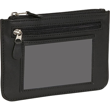 Royce Leather – Portefeuille City mince pour femmes anti-RFID, en cuir Saffiano