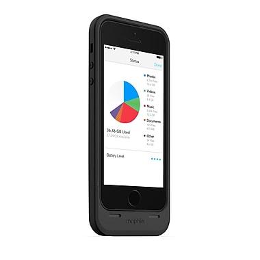 Mophie – Étui avec batterie intégrée et espace de stockage de 32 Go Space Pack pour iPhone 5/5s, 3 indicateurs DEL, noir