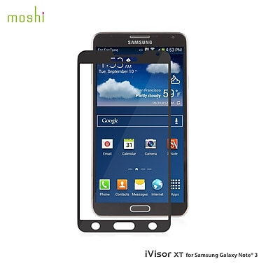 Moshi iVisor XT Screen Protector, Samsung Note 3, Black