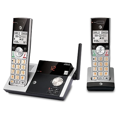 AT&T CL82215 2-Handset Cordless Phone with Digital Answering System