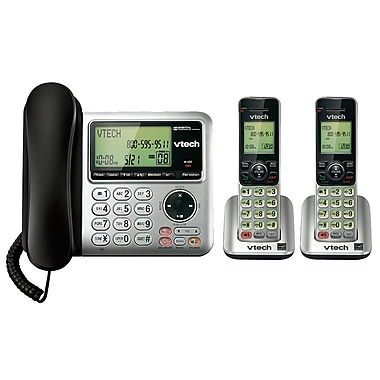 Vtech CS6649-2 Cordless/Corded Handsets with Digital Answering System