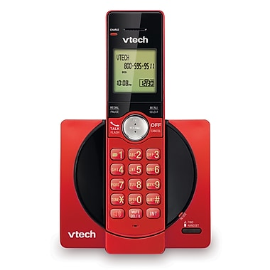 Vtech CS6919-16 Cordless Phone with Caller ID/Call Waiting, Red