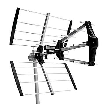 Digiwave – Antenne UHF TV numérique extérieure triple-boom, 20 x 18 x 24 po, argenté