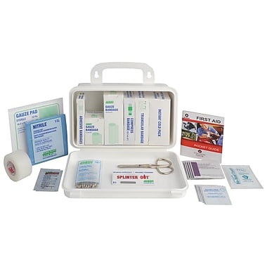 Crownhill Quebec First Aid Kit for Truck, Plastic Box