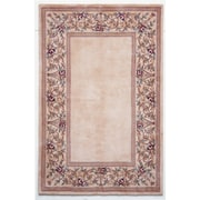 KAS Rugs Ruby Ivory Floral Border Area Rug; 3'3'' x 5'3''
