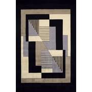 Momeni New Wave Black/Gray Area Rug; 8' x 11'