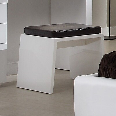 At Home Athens Stool; White High Gloss