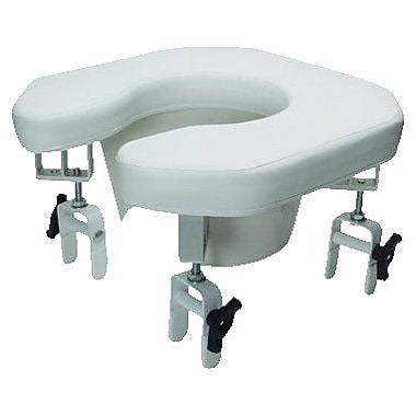 Graham Field Raised Padded Toilet Seat Open Front 300Lb Capacity