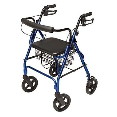 Graham Field Four-Wheel Deluxe Rollator, Burgundy