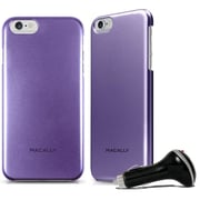 Macally BSNAPP6LPU Case for Use with iPhone6 Plus, Purple, CarChg