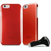 Macally CarChg Case for iPhone 6 Plus Red (BSNAPP6LR)