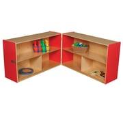 Wood Designs Versatile Folding Storage Unit; Strawberry Red