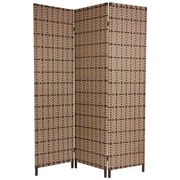 Oriental Furniture 71'' x 48'' Tropical 3 Panel Room Divider