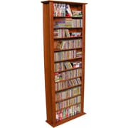 Venture Horizon VHZ Entertainment Large Single Multimedia Storage Rack; Cherry