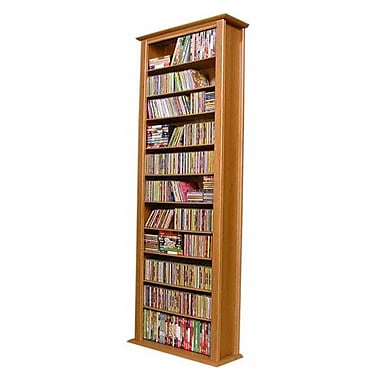 Venture Horizon VHZ Entertainment Large Single Multimedia Storage Rack; Oak