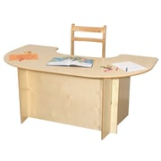 Wood Designs 52'' x 29.5'' Kidney Classroom Table