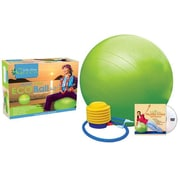 WaiLana Phthalate-Free Exercise Ball Kit with DVD; Small