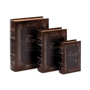 Woodland Imports 3 Piece Faux Book Box Set