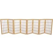 Oriental Furniture 24'' x 96'' Window Tall Desktop Pane Shoji 8 Panel Room Divider; Natural