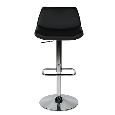Whiteline Imports Maya Adjustable Height Swivel Bar Stool; Black