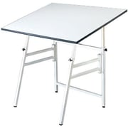 Alvin and Co. 48'' Rectangular Folding Table; White