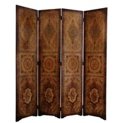 Oriental Furniture 72'' x 63'' Olde-Worlde Parlor 4 Panel Room Divider