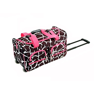 Rockland 22'' Travel Duffel with Shoulder Strap; Pink Giraffe