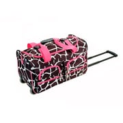 Rockland 22'' Travel Duffel with Shoulder Strap; Pink Giraffe