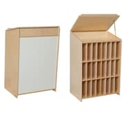 Wood Designs Sign In Center 24 Compartment Book Display w/ Bins