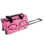 Rockland 22'' Travel Duffel with Shoulder Strap; Pink Dot