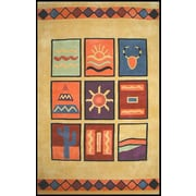 American Home Rug Co. Bright Yellow Sizzle Area Rug; 8' x 11'