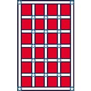 American Home Rug Co. Bright Red/White Stars and Stripes Area Rug; 8' x 11'